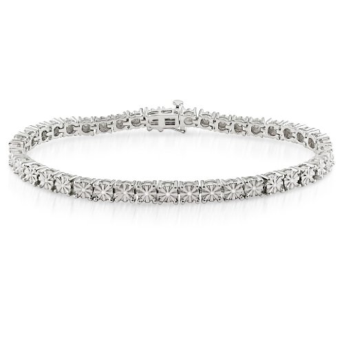 Sterling Silver Diamond Tennis Bracelet (1/2 cttw, h-I Color, I3 Clarity) 7