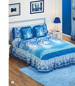 Sea Dolphins Blue Bedspread Sheets Bedding Set Twin front-30675
