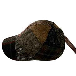 Irish Tweed Baseball Cap - S M L XL - Patchwork - Made in Ireland