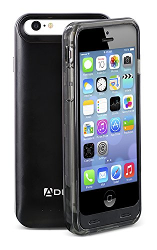 iPhone SE / 5S / 5 Battery Case, Aduro® PowerUp MFI Slim Rechargeable Fuel Jacket Power Bank Case for Apple iPhone SE / 5S / 5, 2400 mAh Capacity & 40+ Hrs Added (Grey) (Fuel Power Bank compare prices)