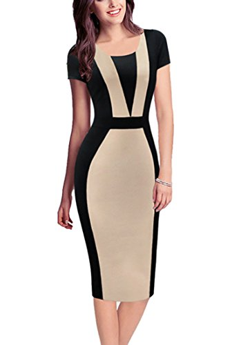 REPHYLLIS-Women-Summer-Round-Neck-Business-Working-Cocktail-Party-Bodycon-Dress