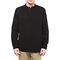 Sf Jeans by Pantaloons Men's Casual Shirt (205000004631234_Black_Large)