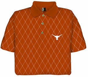 Texas Printed Pique Polo Shirt by Chiliwear LLC
