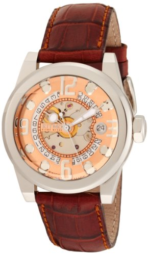 Ritmo Mundo Unisex 251 Rose Gold Pantheon Automatic Dial Watch