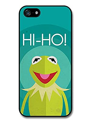 The Muppets Kermit Frog Funny Illustration Blue Background case for iPhone 5 5S