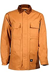Tall Man's Zip Front Lined Duck Chore Coat Size Large-Tall