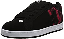 DC Men\'s Court Graffik SE Skate Shoe, Black Plaid, 10 M US