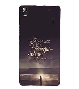 EPICCASE Believe in God Mobile Back Case Cover For Lenovo K3 Note (Designer Case)