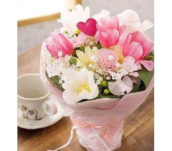 翌日配達お花屋さん 【送料無料】不思議ブーケ・ピンク(チューリップ花束)[送料無料・即日発送]  誕生日・記念日・お祝い・結婚祝い・お見舞い・歓送迎会・結婚祝い・お礼・花の配達便!