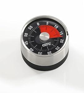 GEFU Küchentimer Timer Eieruhr Edelstahl mit Magnet 61 mm, silber