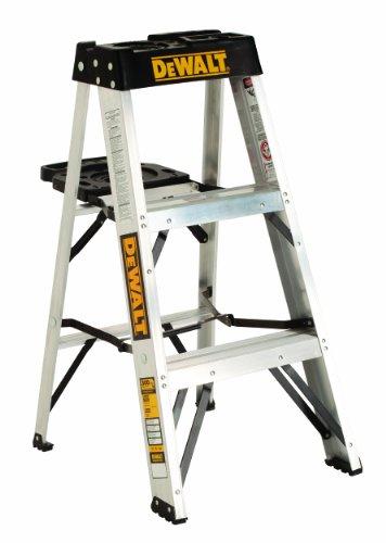 DeWalt DXL2010-03 3-Feet Aluminum Stepladder Type IA with 300-Pound Duty Rating, 3-Feet