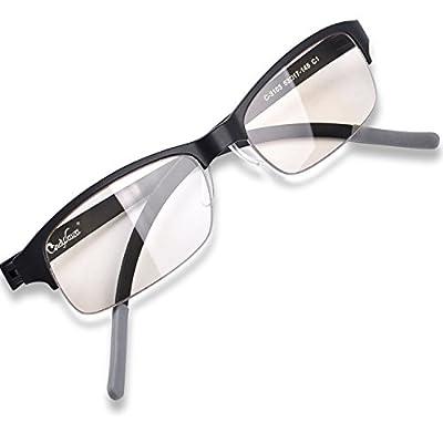 100%UV Blue Light Blocking Amber Vision Care Glasses Computer Glasses Video Gaming Glasses Optical Award and Patented Melanin Eyewear Sleep Glasses Ultralight