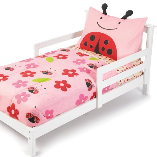 Skip Hop 4 Piece Toddler Bedding Set, Ladybug