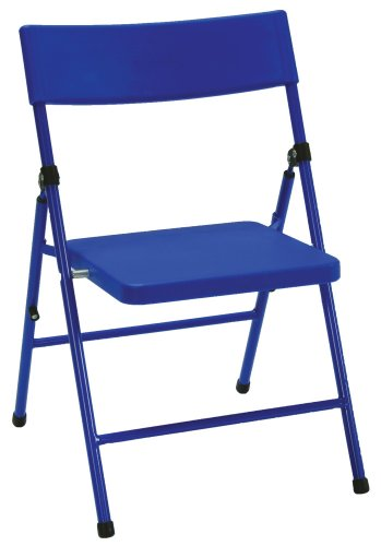 Cosco Products Kid s 4 Pack Pinch Free Folding Chair Blue