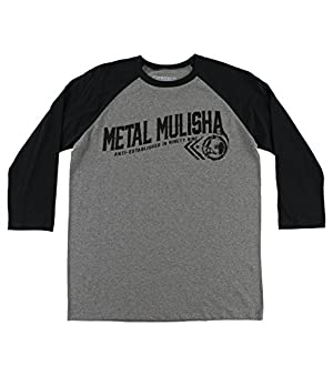 Metal Mulisha Men's Rider Raglan Graphic T-Shirt-XL Charcoal Heather
