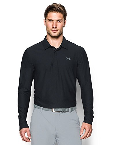 Under Armour Men's Playoff Long Sleeve Polo, Black (001), X-Large