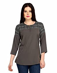 Snoby Grey Colored Stylish Nylon Top (SBY1002)