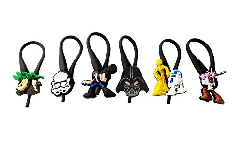 AVIRGO 6 pcs Soft Zipper Pull Charms for Backpack Bag Pendant Jacket Set # 100-3