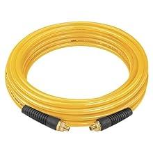 DEWALT DAP38100 100-Inch, 3/8-Inch diameter, polyurethane air hose with 1/4-Inch NPT male fittings.