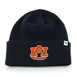 NCAA Auburn Tigers \'47 Raised Cuff Knit Hat, Navy, One Size