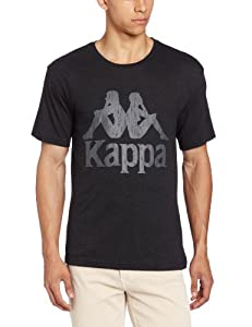 Kappa Men's Authentic Logo T-Shirt, Black, Small