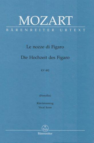 Le nozze di Figaro (ital./dt.). Opera buffa in quattro atti. Honolka-Uebers. (geb.) KV 492. Die Hochzeit des Figaro. Opera buffa in 4 Akten. KV 492
