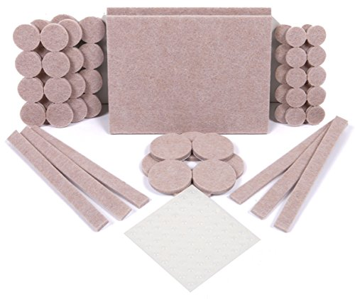 Premium Furniture Pads For Hardwood Floor Protection 60 Heavy Duty Felt  Pads U0026 64 Furniture Pads Rubber (124 Piece Multi Use Bundle).