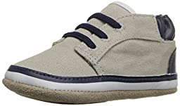 Robeez Tyler Low Top Hard Sole Mini Shoe (Infant), Cool Grey, 6-9 Months M US