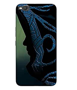 Snazzy Abstract Printed Blue Hard Back Cover For HTC One X9 Smartphon