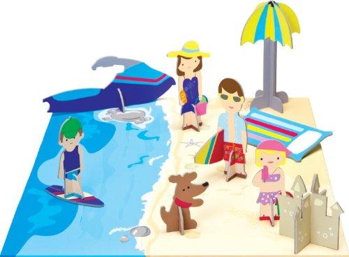 Krooomers Beach Playset of Family Figures