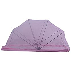 Foldable Type Mosquito Net - PolyCotton - King Bed Size - 72x75 - Pink or Ivory