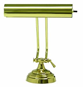 House Of Troy AP10-21-61 Advent Collection 10-1/2-Inch Adjustable Piano/Desk Portable Lamp, Polished Brass