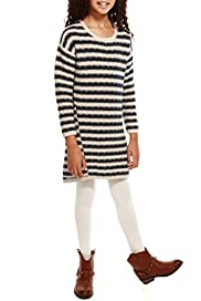 Pure Cotton Tuck Striped Knitted Dress [T74-4417M-S]