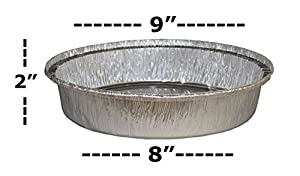 "MontoPack 9"" Round Disposable Aluminum Foil Pans (Pack of 50)"
