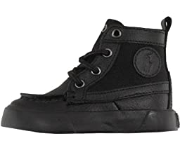 Polo Ralph Lauren Kids Ronnie Boots (Toddler/Little Kid/Big Kid),Black Leather/Black Nylon,4.5 M US Toddler