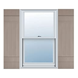 14W x 31H Standard Size Four Board Joined Shutters, w/Installation Screws, 008 - Clay Color: Clay Size: 14W x 31H Model: