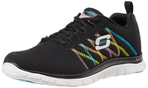 Skechers Flex Appeal Something Fun, Sneaker Donna, Nero (Bkmt), 38
