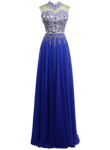 Chengzhong Sun Women Two-piece Applique Long Prom Evening Dresses US10  Royal Blue 052d64a2c46c