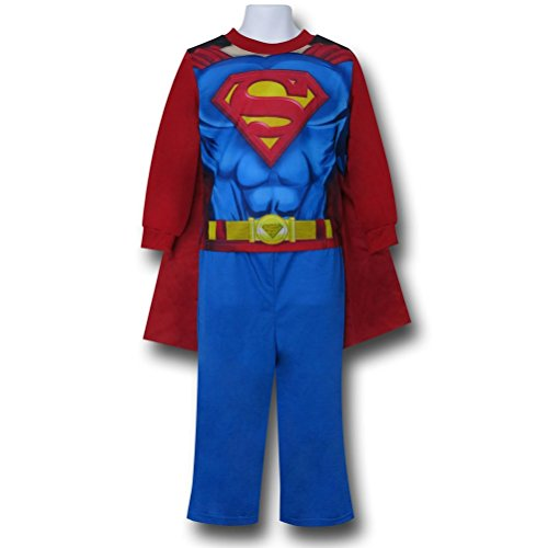 Superman Costume & Cape 2-Piece Kids Pajama Set