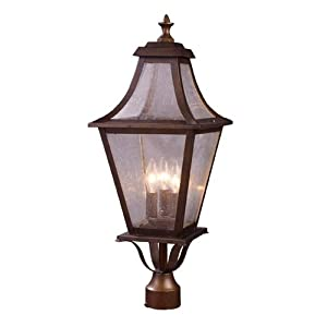 Click to read our review of Outdoor Post Lighting: ELK Lighting Washington Avenue 3-Light Outdoor Post Mount In Coffee Bronze