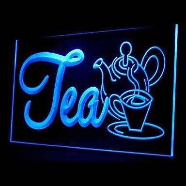 Tea Drink Promotion Green Blue Red White Orange Purple Yellow Advertising Led Light Sign