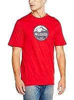 Columbia Camiseta Manga Corta CSC Pioneer Peak (Rojo)