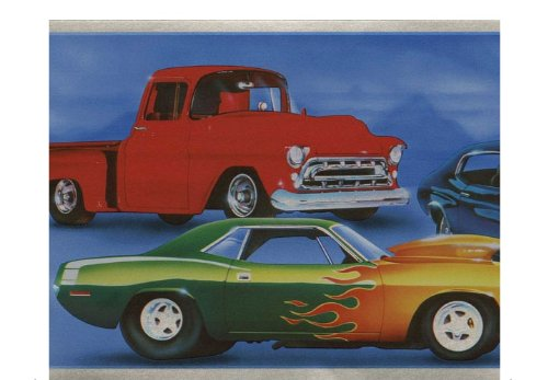 Muscle Cars Wallpaper Border