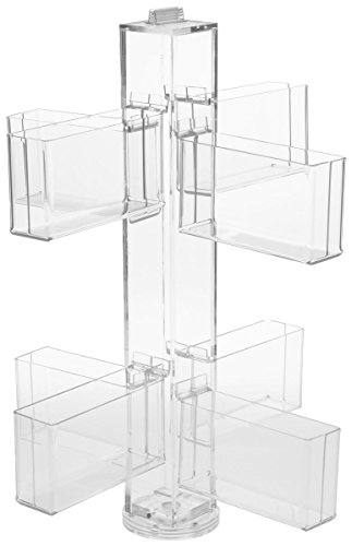 Greeting Card Rack, Countertop or Tabletop, Spinning, 8 Pockets Hold 192 Cards Total (Clear Acrylic) (Spinning Countertop Display compare prices)