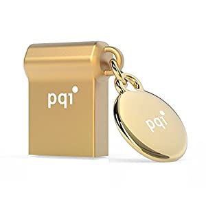 PQI USBメモリ USB 3.0 i-mini II U838V (シルバー/ゴールド) (Gold 32GB)