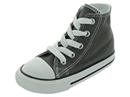 Converse Unisex Baby Chuck Taylor All Star Hi Top (Inf/Tod) - Charcoal - 5 Infant