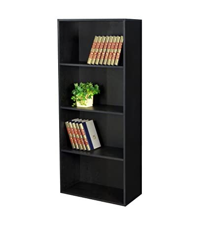 Niche 2-Shelf Bookcase, Ebony