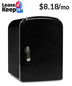 4 Liter AC/DC Portable Mini Fridge Cooler Warmer (Black)