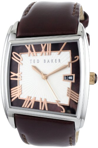 Ted Baker Men's Brown  Leather Strap Watch TE1060