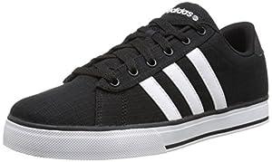 adidas Unisex SE Daily Vulc Black/White/Black Sneaker Men's 8, Women's 9 Medium